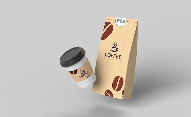 3 dのレンダリングを模擬のコーヒーセット
