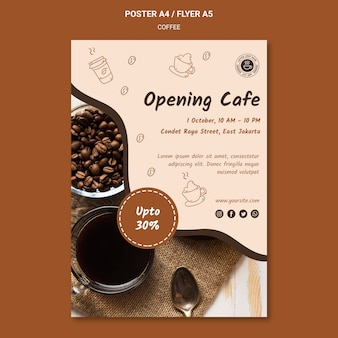 Coffee shop ad poster template