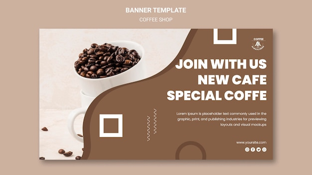 Coffee shop banner style