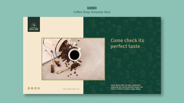 Coffee shop banner template pack