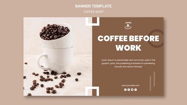 Coffee shop banner theme