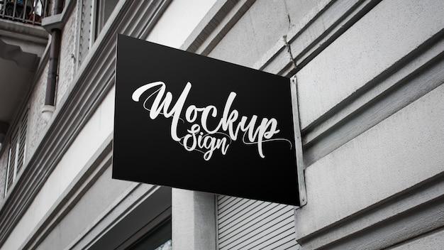 Coffee shop board mockup
