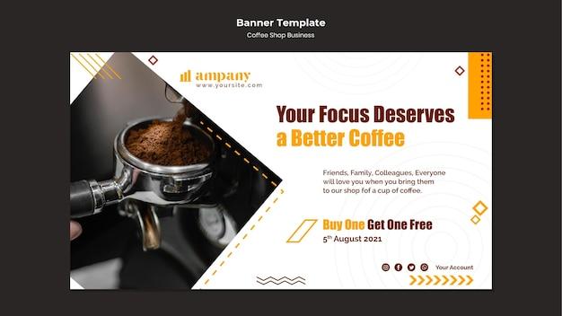 Modello di progettazione dell'insegna di affari della caffetteria