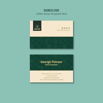 Coffee shop business card template pack