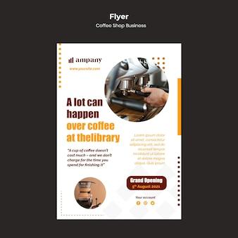 Coffee shop business flyer design template