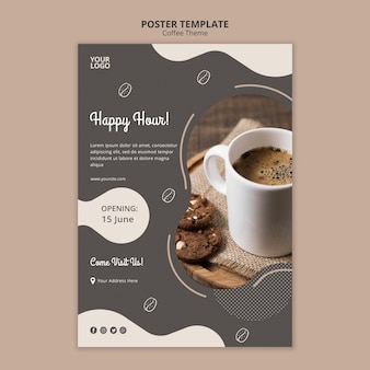 Coffee shop concept poster template