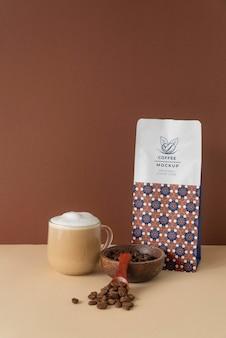커피 숍 요소 모형 배치