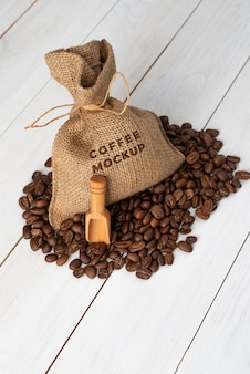 Coffee shop elements mock-up arrangement