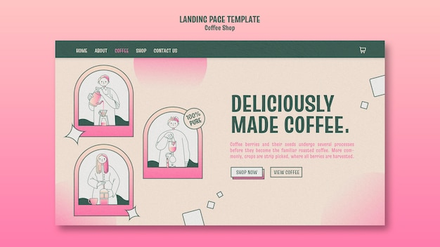커피 숍 방문 페이지