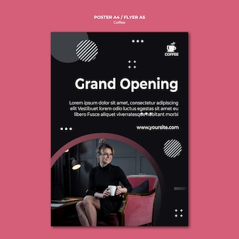 Coffee shop opening poster design