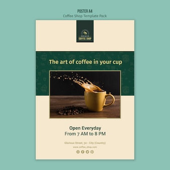 Coffee shop poster template pack