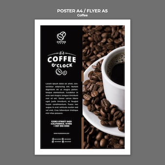 Coffee shop poster template Free Psd