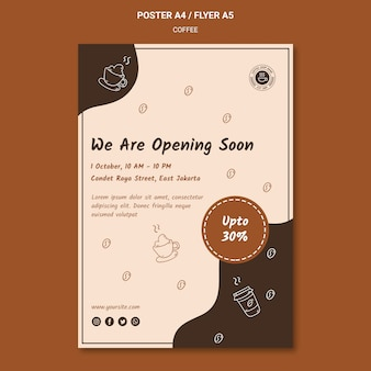 Coffee shop poster template Premium Psd