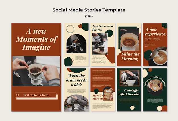 Coffee shop social media stories