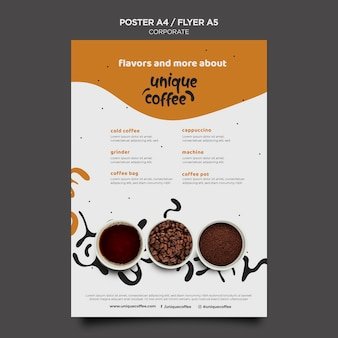 Coffee shop template poster Free Psd