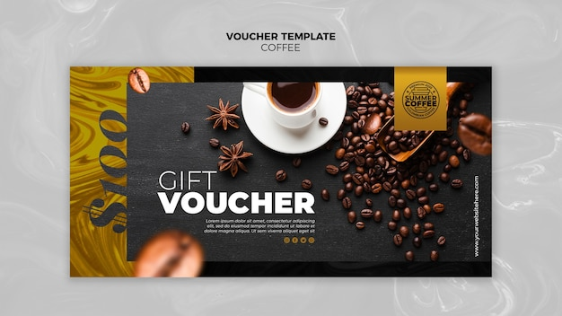Coffee shop voucher template