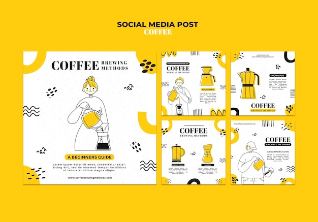 Coffee social media post