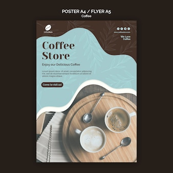Coffee store poster template