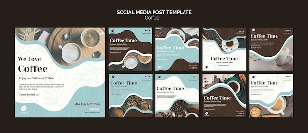 Coffee store social media post
