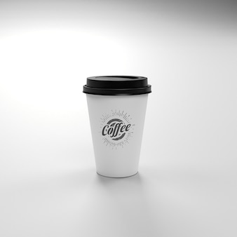 Coffee take away cup mockup