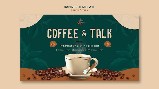 Coffee and talk banner template design