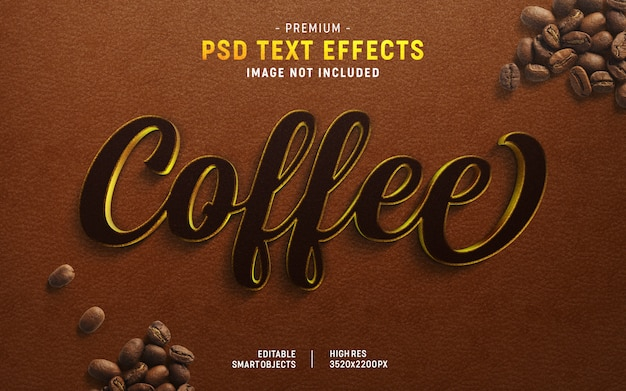 Coffee text effect generator