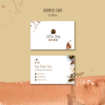 Coffee theme for business card template