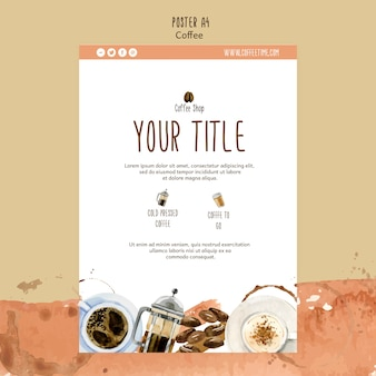 Кофейная тема для шаблона плаката