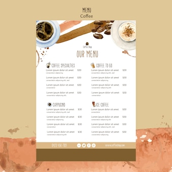 Coffee theme for menu template