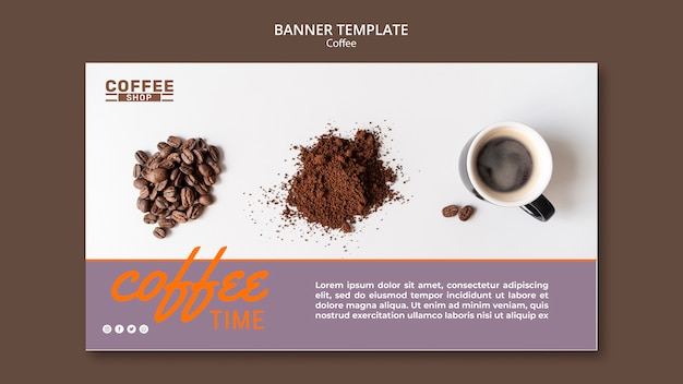 Coffee time banner template