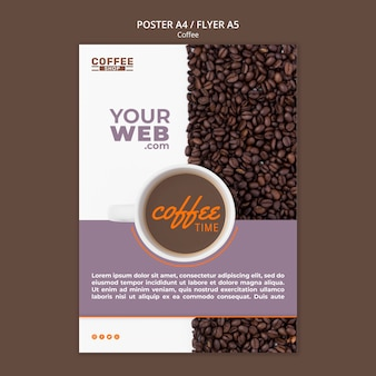 Coffee time poster template Free Psd