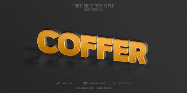 금고 텍스트 스타일 효과 템플릿 디자인 프리미엄 PSD 파일