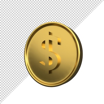 コイン3dイラストレンダリング