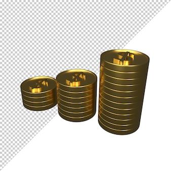 Монета 3d рендеринга иллюстрации