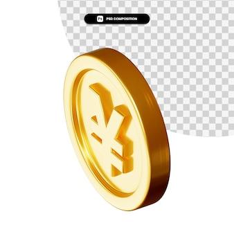Монета 3d-рендеринга изолированные