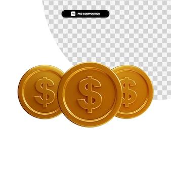 分離された構成のコイン3dビジュアル