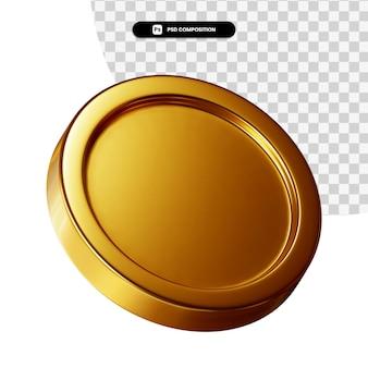Монета 3d визуальный рендеринг изолированные