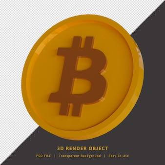 コインビットコイン暗号通貨3dレンダリング