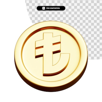 分離されたコイン リラ 3 d レンダリング