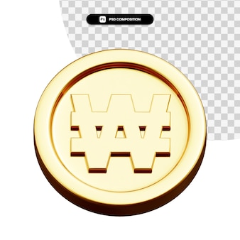コインは分離された 3 d レンダリングを獲得しました