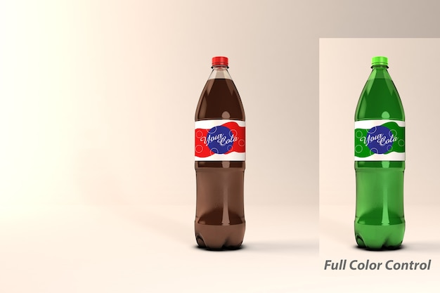 Cola bottle psd mockup