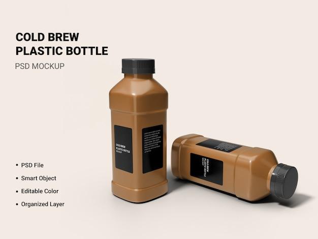 Макет бутылки холодного пива изолированные