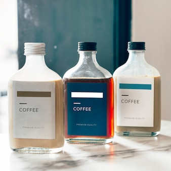 Cold brew coffee bottle mockup design