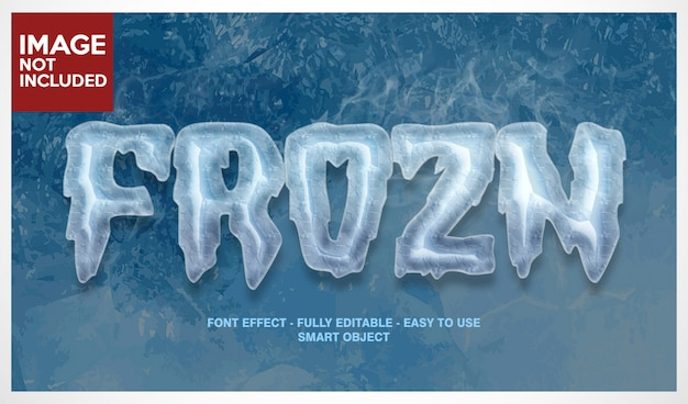 Cold ice font effect with editable layers