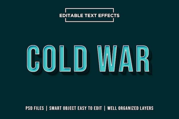 Cold war - 3d blue text effect premium psd