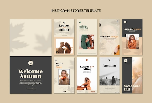 Collection of autumn web templates