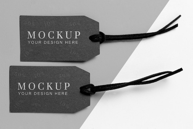 Collection of clothing mock-up tags