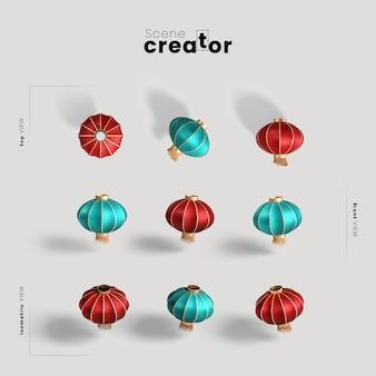 Коллекция китайских праздничных шаров