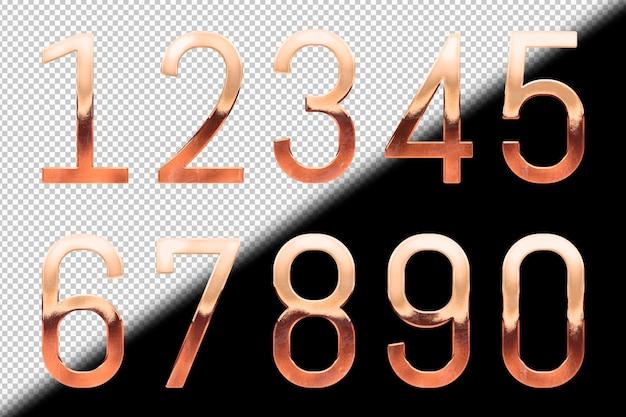 로즈 골드 숫자 컬렉션