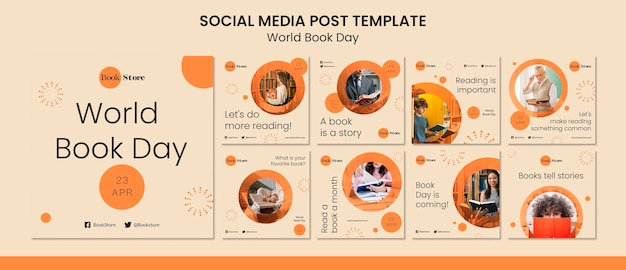 Collection of world book day instagram posts
